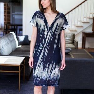 Emerson Fry wool and silk V neck dress, new
